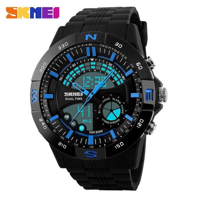 2016 New S Shock Men Sports Watches Skmei Quality Brand Digital Analog Alarm Military Watch Relogio Masculino Dual Display Watch