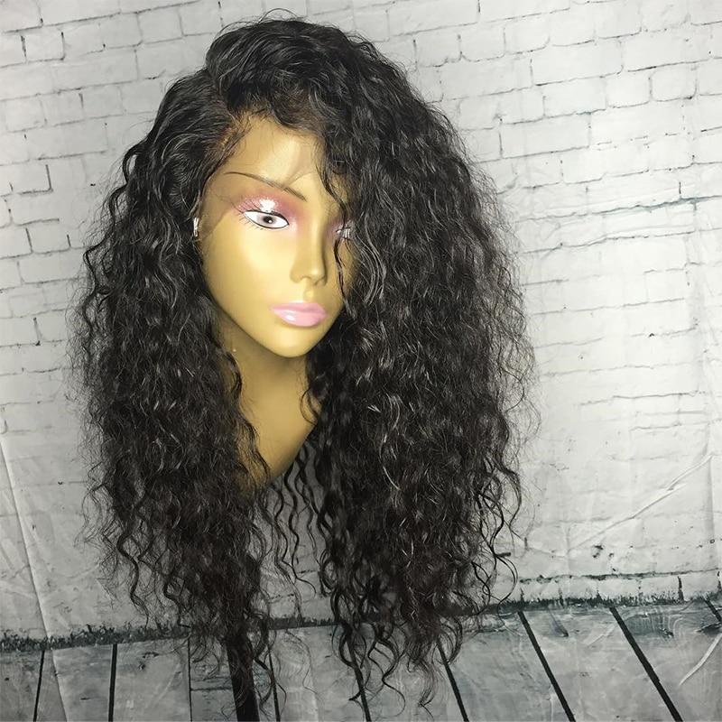 13x6 Σγουρά μαλλιά μπροστά μαλλιά - Ανθρώπινα μαλλιά (για μαύρο) - Φωτογραφία 4