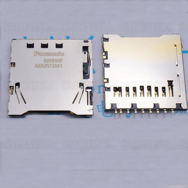 Original SD Card For Panasonic AXA2R73061P 9P Self Push Flip Card Connector 30pcs molex 4 in 1 38pins sd card holder tray push push connector self push type