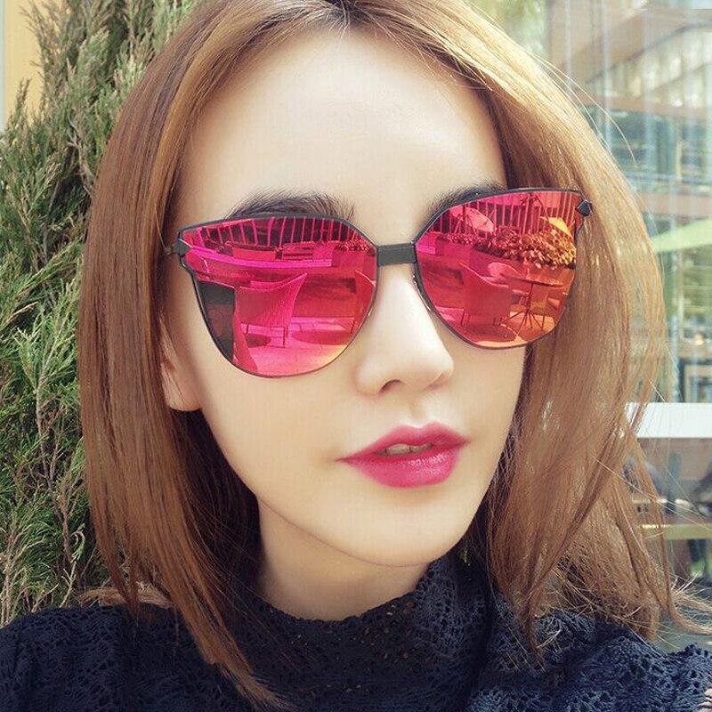 FEISHINI Brand Metal Frame Butterfly Women Sunglasses Unisex Design Mirror Fashion Trendy Sunglass Female UVB Gradient