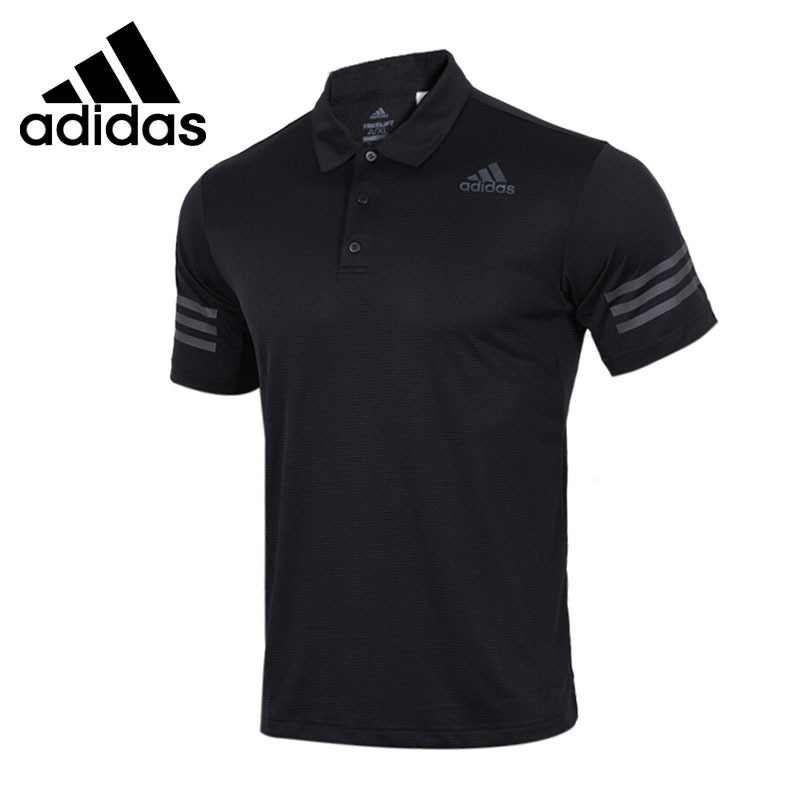 Original New Arrival 2018 Adidas CLIMACOOL exercise POLO shirt Men s short sleeve Sportswear
