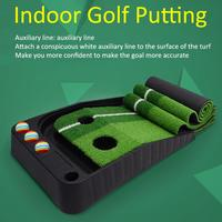 2.5M Golf Putting Practice Mat Green Grass Lawn Outdoor Indoor Putting Golf Pad Trainer Aid Equipment Drop Shipping