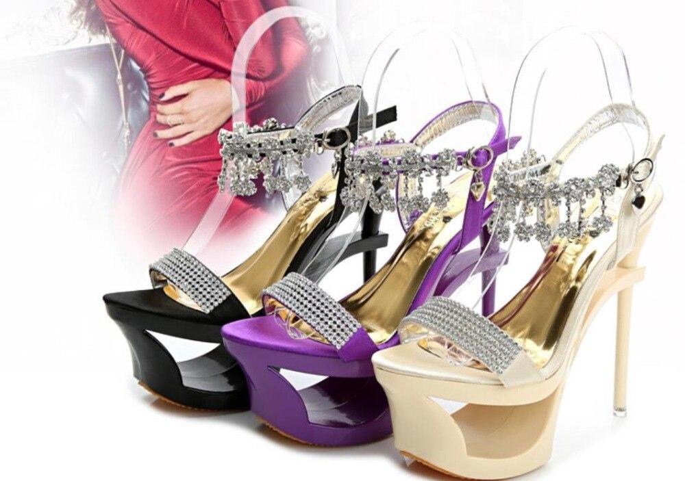 Cm Stiletto La Chaussures Noir Femmes 2019 jaune Tendance Clair 15 Avec De Nouvelle pourpre Le Mode Va L'été wgHwPvBq