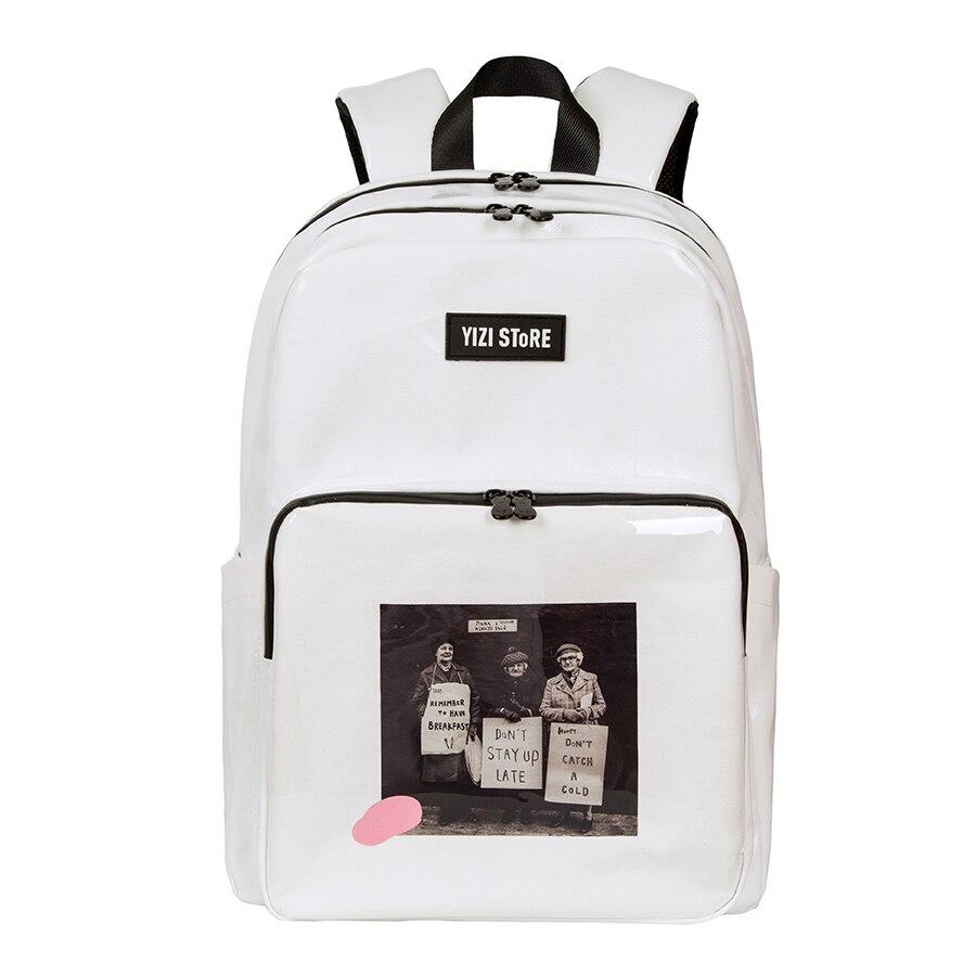 2019 nowy oryginalny wodoodporna o dużej pojemności torby szkolne drukowane podróży plecaki dla chłopców i dziewcząt w zdjęcia seria 2 (zabawy KIK) w Plecaki od Bagaże i torby na  Grupa 3