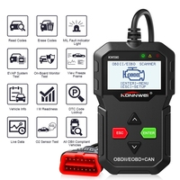 2019 OBD Diagnostic Tool KONNWEI KW590 Car Code Reader automotive OBD2 Scanner Support Multi Brands Cars&languages Free Shipping