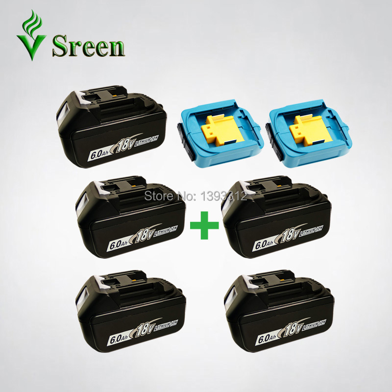 5PCS 18V 6000mAh BL1860 Replacement for Makita 18V BL1850 BL1830 BL1840 LXT Power Tool Rechargeable Li-Ion Battery USB Charger 3pcs set 18v lithium li ion battery 3000mah rechargeable replacement power tool battery for makita li ion lxt 18v machines