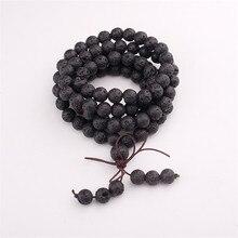 цена 2017 Top Design Lava Stone Wrap Bracelet Trendy Handmade Men`s 108 Mala Yoga Bracelet or Necklace Jewelry For Women в интернет-магазинах