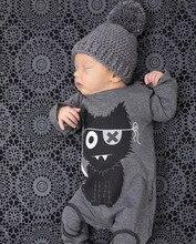 Rompers мальчика комбинезон девочка baby новорожденных длинным детская рукавом хлопок мода