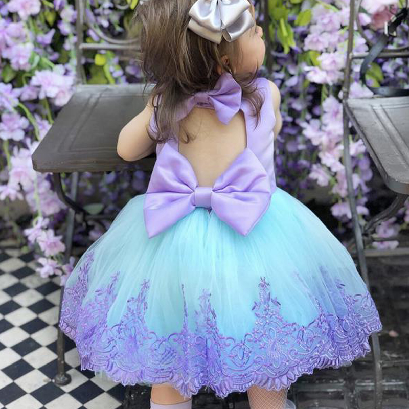 Girl Dress Kids Dresses For Girls Lace Kid Baby Girl Princess Pegeant Bridesmaid Formal Gown Prom Tutu Dress Baby Girl Clothes