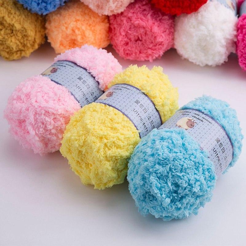 Hoomall 50g/lot High Quality Yarn for Hand Knitting Colorful Woolen Yarn Crochet Sweater Blanket Hat Scarf Socks DIY Needlework 1