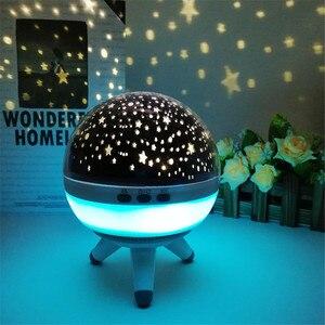 Image 2 - Coversage rotatif veilleuse projecteur Spin ciel étoilé étoile maître enfants enfants bébé sommeil romantique lampe Led USB Projection