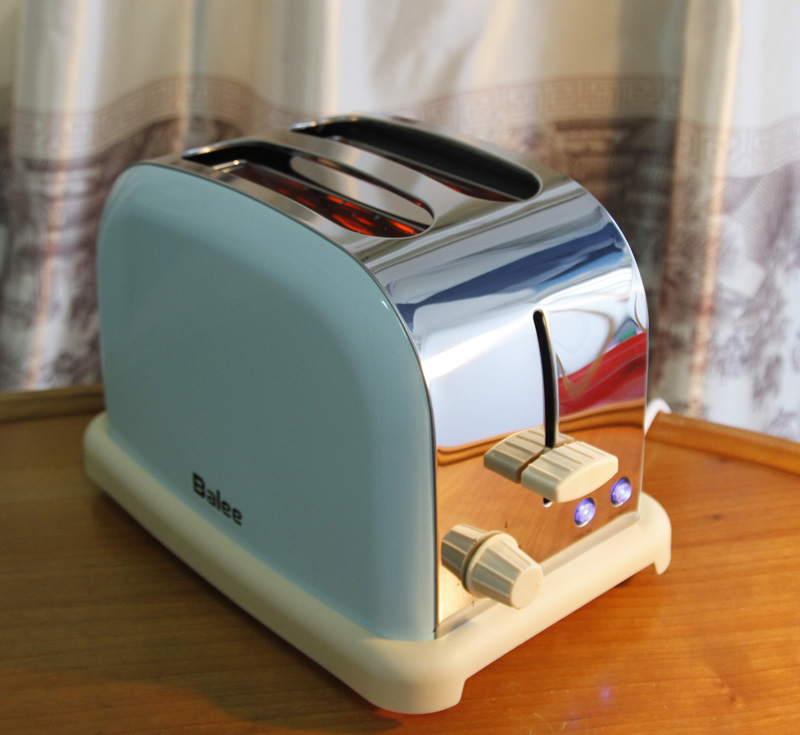 Retro Home Stainless Steel Automatic Toaster Tumbler Toaster 2 5