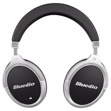 Bluedio F2 Active Noise Cancelling Wireless Bluetooth headphones Junior ANC Edition around the ear headset (black)