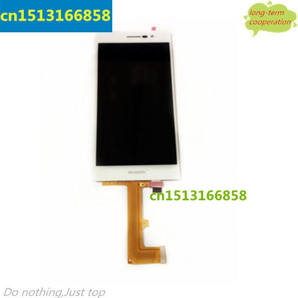 AAA 100% Tested LCD Screen and Digitizer Assembly for Huawei Ascend P7 - White