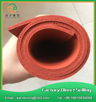 1000x1000x5mm Red Silicone Foam Sheet Red Silicone Sponge Sheet Heat Transfer Rubber Matt