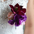 Wedding Prom Corsage Bracelet Handmade Wedding boutonniere Bride Wrist Corsages Groom Bridesmaid Groomsmen Boutonniere FE13