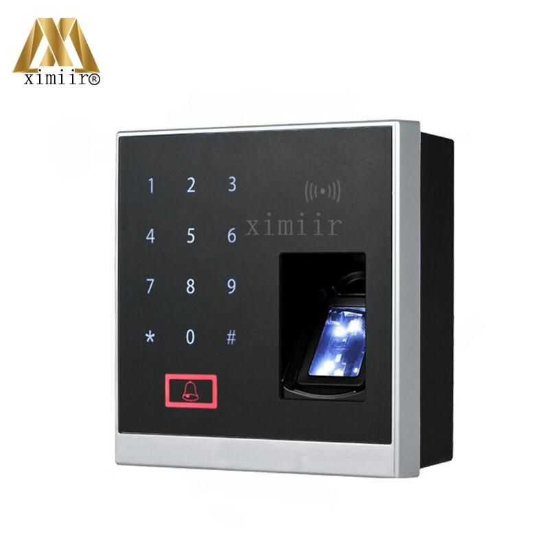 ZKBioBT APP logiciel X8-BT bluetooth système de contrôle d'accès d'empreintes digitales avec 13.56 MHZ MF lecteur de carte serrure d'empreinte digitale