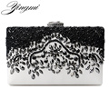 New women diamonds luxurious top evening bags day clutch messenger shoulder chain  BAG with acrylic mini purse wallet