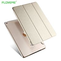 For Ipad6 Transparent Clear Leather Cover For Ipad Air2 Tablets Accessories Luxury Stand Smart Case For