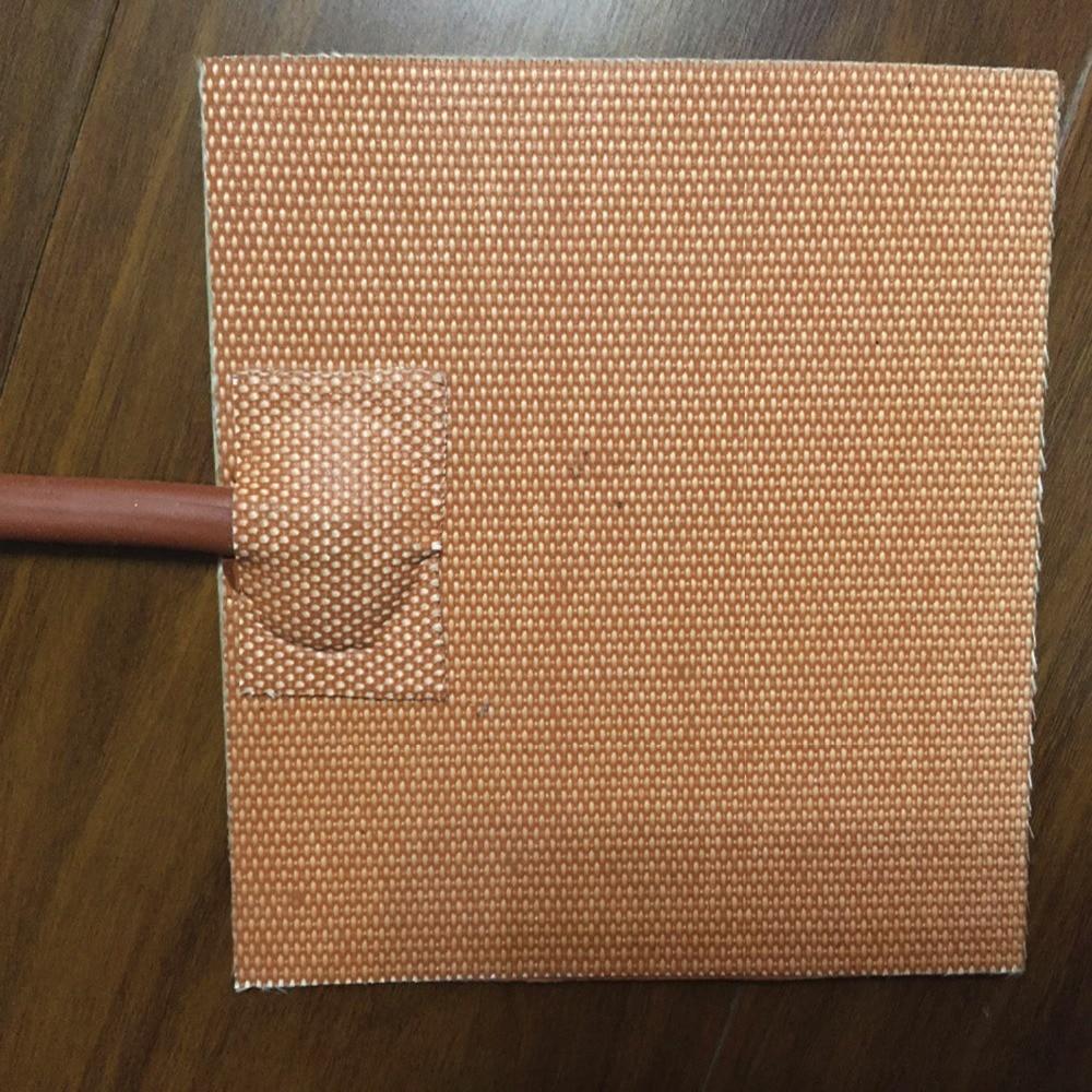 400 w 240 v 245*245 3 m adesivo piombo filo di silicone flessibile gomma 3d stampante riscaldatore silicone riscaldatore elemento di calore