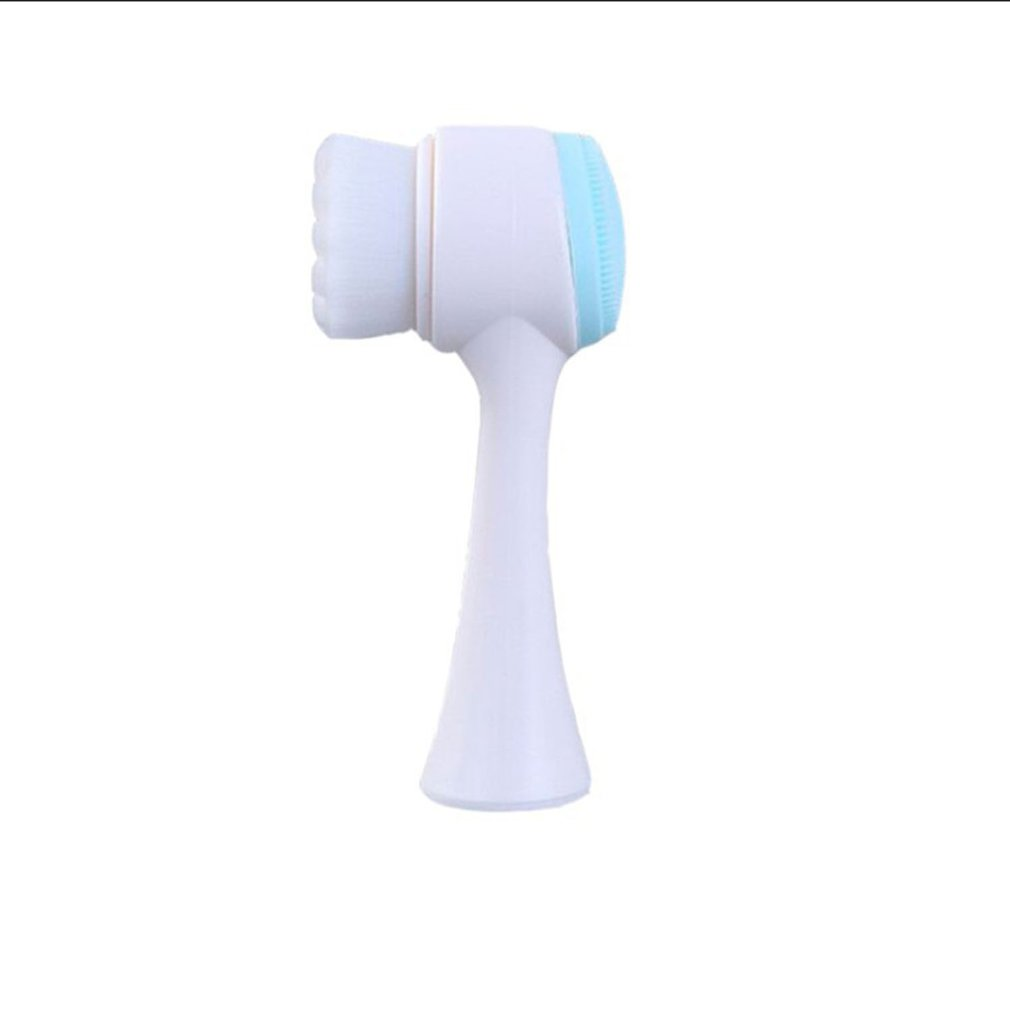 3D Face Wash Brush Double-Sided Silicone Cleansing Instrument Blackhead Deep Clean Tool Manual Soft Hair Cleaner