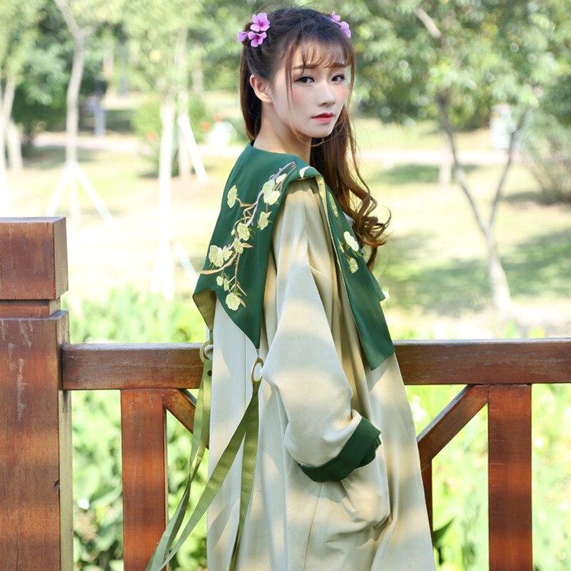 Trench Kimono coat Doux Vintage Longue Outwear Neuf Pour Manteau Fille 2018 Emboridery Automne Femme Femmes Long Cardigan Trimestre Top 2bWHeEDI9Y