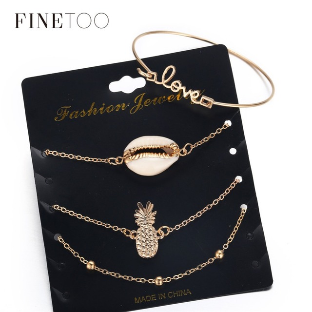 Bohemian Love Cowrie Shell Pineapple Bracelets