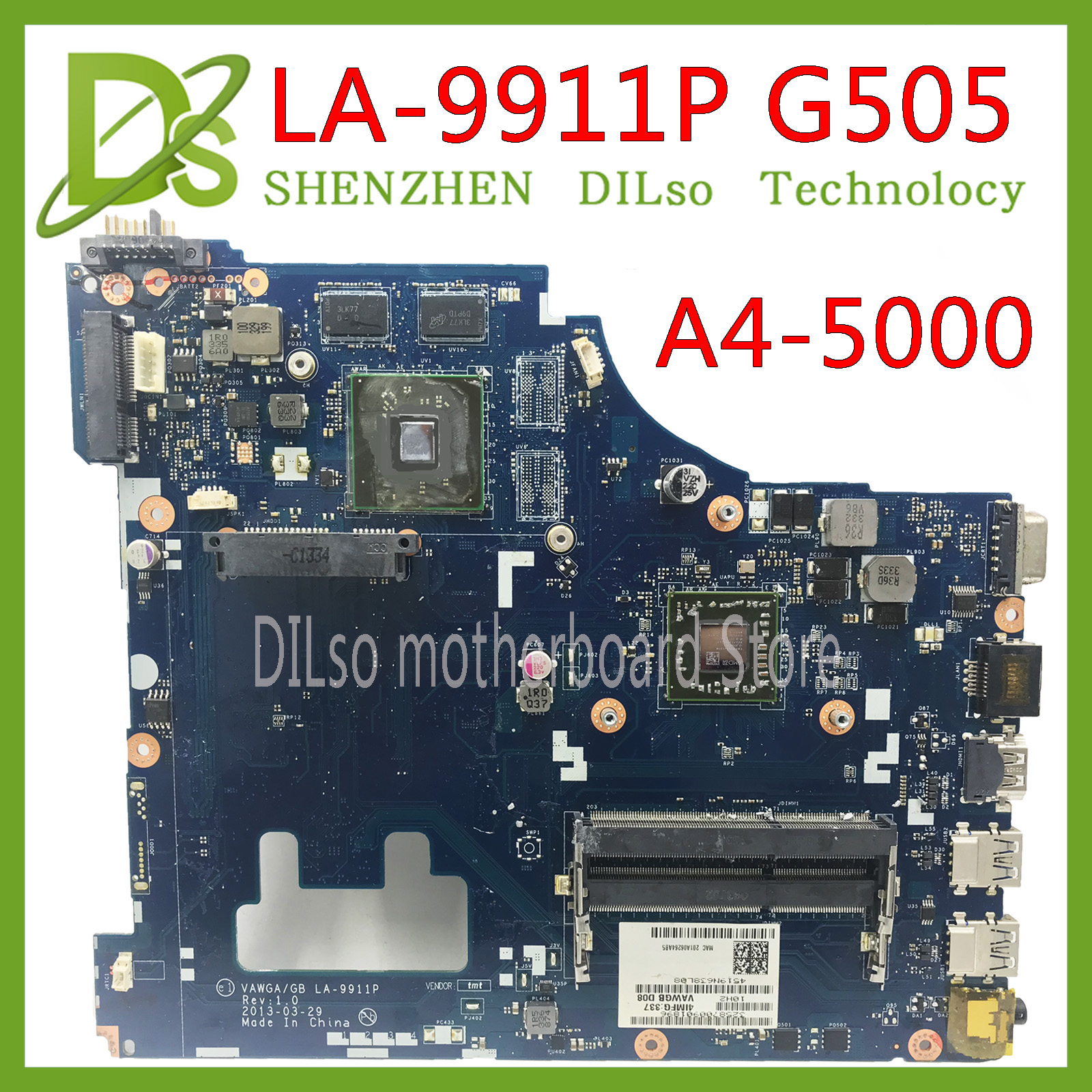 KEFU G505 VAWGA/GB LA-9911P Motherboard For Lenovo G505 Motherboard La-9911p Motherboard With A4 CPU Test