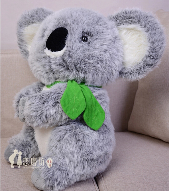 Summer Style 45cm High Quality Cute Gray Koala Plush Toy Stuffed Animal Small Gift Children Day Kis Birthday Gift Free Shipping fancytrader new pop animal koala plush toy big stuffed plush koala doll 50cm best gift for children