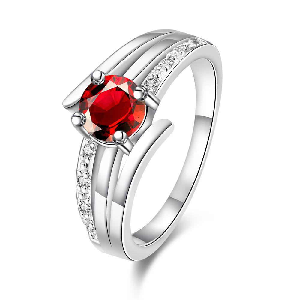 Petite Red Stone Red Trio-spiral Lined Ring Size 8 коляска 2 в 1 chicco trio stylego red passion