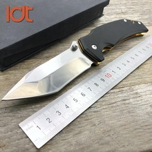 LDT Golden E33 Tactical Folding Knives 9Cr14Mov Blade G10 Handle Mirror Sanding Camping Pocket Outdoor Survival Knife EDC Tools
