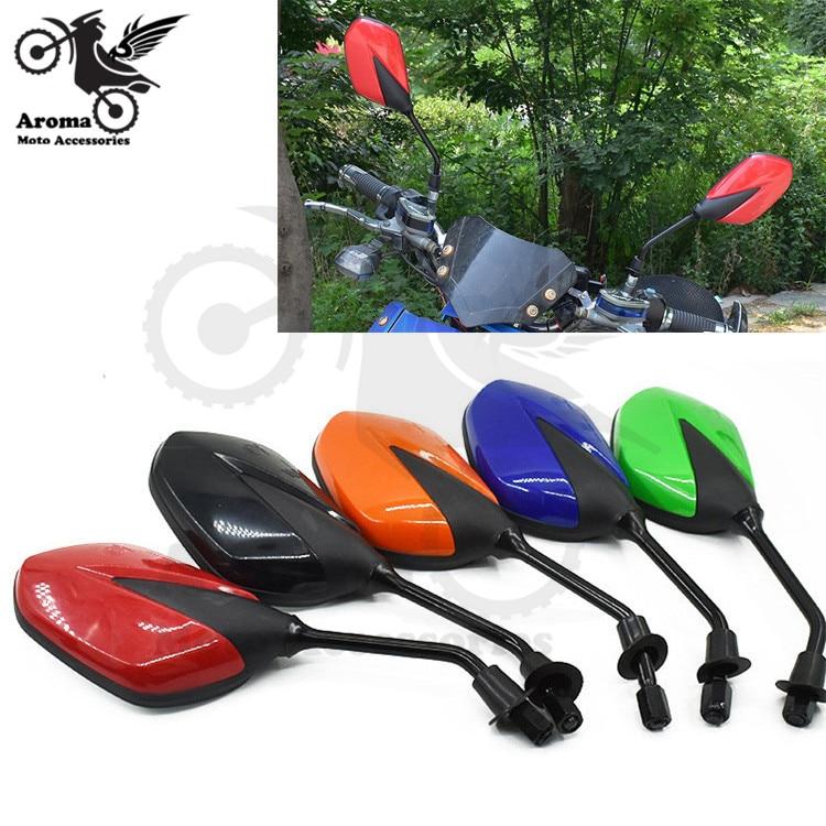 5 colors unviersal 8MM 10MM ATV moto mirrors for honda suzuki yamaha Kawasaki scooter accessories motorcycle rearview mirror