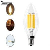 IMINOVO 10pcs C35 LED Candle Bulb E12 E14 Dimmable LED Edison Light Lamp Retro 2W 4W