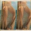 Fashion Bohemian Fishnet Beach Skirt Women S Crochet Maxi Skirts Long Beach Cover Up Sexy Beach