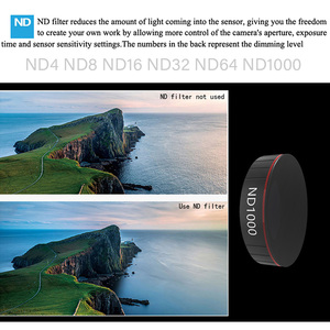 Image 2 - For DJI Osmo Action Camera Lens Filter Polarizing CPL UV ND 4 8 16 32 64 Neutral Density Filters For Osmo Action Accessories