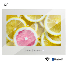 Souria 42 Smart Vanishing Mirror IP66 Magic Mirror Advertising Display Hotel Waterproof SPA TV Wall Mounting Android LED TV advertising now tv commercials cd