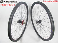 Super performance!! China Farsports 29er carbon clincher mtb bike wheels with Extralite disc hubs in 28/32 holes, only 1330g !!