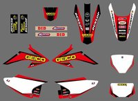 Red White0572 New Style TEAM GRAPHICS BACKGROUNDS FOR CRF150 CRF230 CRF150F CRF230F 2008 2009 2010 2011
