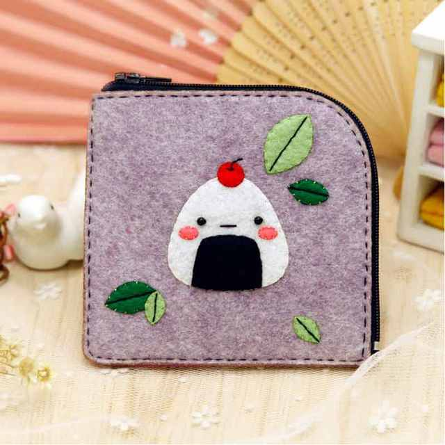 Online Shop Felt Craft Girls Coin Purse Diy Sewing Japanese Cute