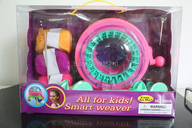 Hot Inteligente weaver Malharia Circular Da Máquina educacional brinquedo de plástico, fazer o seu próprio design de moda, tudo para as crianças