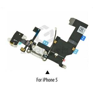 Image 2 - 1 PCS ชาร์จพอร์ต USB DOCK Connector FLEX สำหรับ iPhone 5 5S 6 6S 7 8 Plus หูฟังแจ็คไมโครโฟน FLEX CABLE