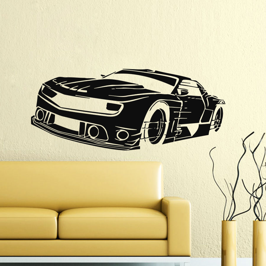 Hot Wall Stickers For Kids Rooms Decor Bicycle BMX Wall Decals ...