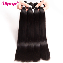 ALIPOP Peruvian Straight Hair Bundles Remy Hair Weave Human Hair Bundles 10″-28″ 1PC Double Weft Hair Extension Can Be Dyed