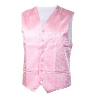 MALL New Mens Top Swirl Wedding Waistcoat Pink 2XL UK 44