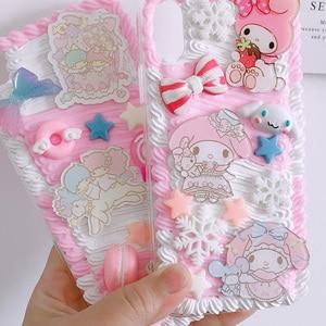 Image 5 - For huawei P30 pro/P20 plus /nova3e Gemini DIY case, 3D melody cover for samsung s10 plus handmade cream candy case gift