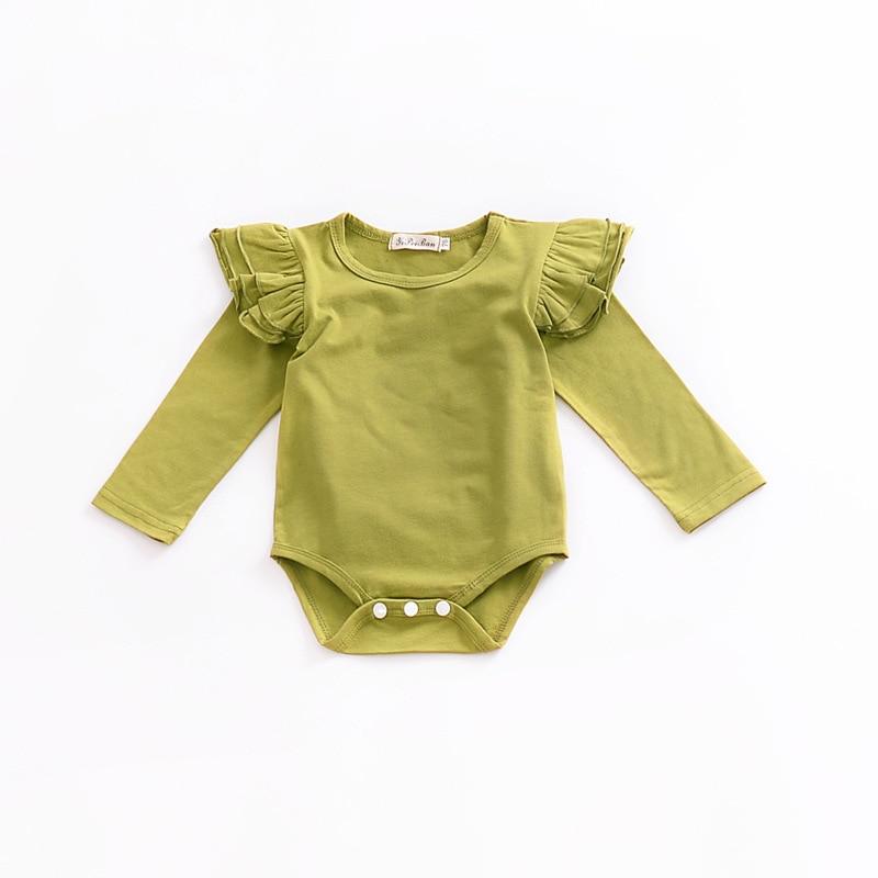 2018 Newborn Solid Color Baby Onesie Baby Bodysuit Toddler ...