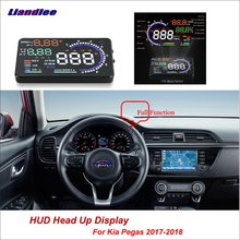 Liandlee For Kia Pegas 2017-2018 OBD Safe Driving Screen Car HUD Head Up Display Full Function Projector Refkecting Windshield