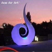 Elegant shape art inflatable swan model,nice designed swan with led bulb light and base fan on discount