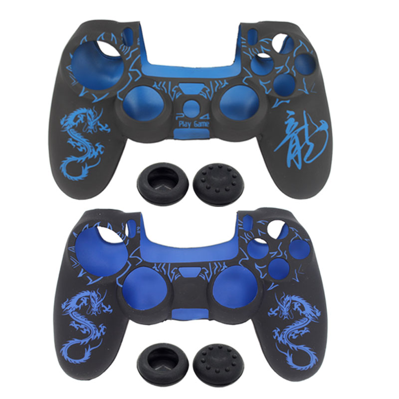 blueloong new Soft Laser Silicone Rubber Set Skin Case Cover For Sony PlayStation Dualshock 4 PS4 Controller Game Accessories