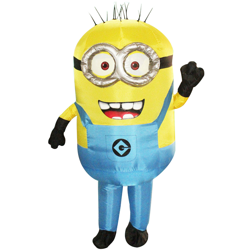 New Purim Halloween Cosplay Party Costume Adult Minion Inflatable Minion Costume Mascot Blue Green Red Color Minion Costume